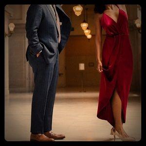 Fraiche by J red maxi dress